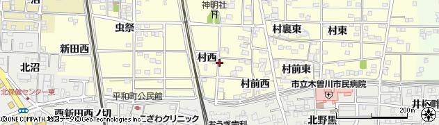 愛知県一宮市北方町曽根(村西)周辺の地図