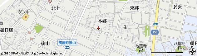 愛知県江南市勝佐町(本郷)周辺の地図
