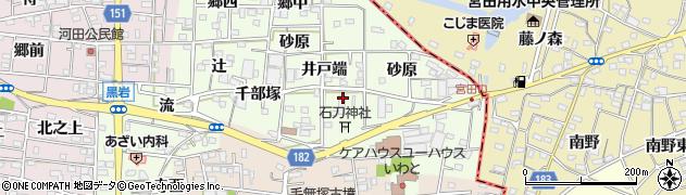 愛知県一宮市浅井町黒岩(石刀塚)周辺の地図