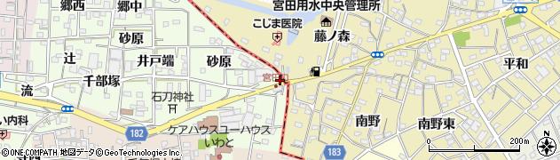 愛知県一宮市浅井町黒岩(サイカチ)周辺の地図