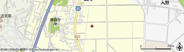 神奈川県平塚市広川周辺の地図