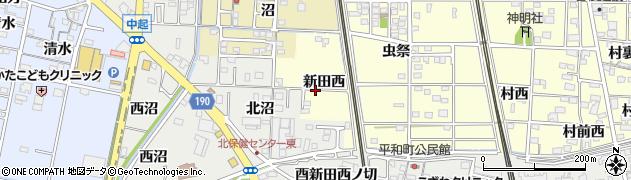 愛知県一宮市北方町曽根(新田西)周辺の地図
