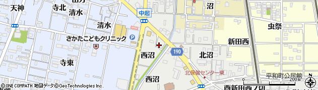 愛知県一宮市木曽川町黒田(西沼北ノ切)周辺の地図