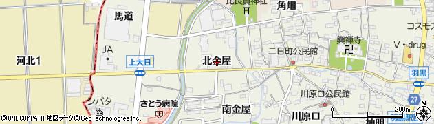 愛知県犬山市羽黒(北金屋)周辺の地図