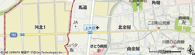 愛知県犬山市羽黒(上大日)周辺の地図