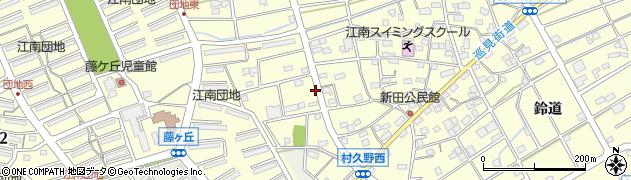 愛知県江南市村久野町(南大門)周辺の地図
