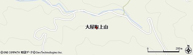 兵庫県養父市大屋町上山周辺の地図