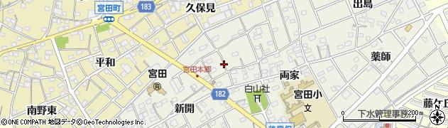 愛知県江南市後飛保町(本郷)周辺の地図