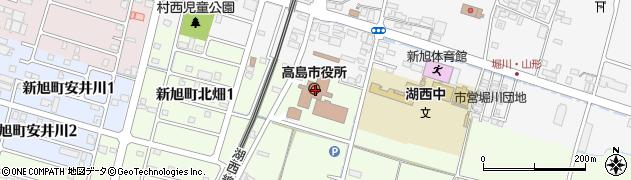 滋賀県高島市周辺の地図