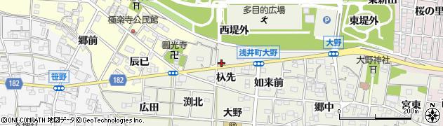 愛知県一宮市浅井町大野(杁先)周辺の地図
