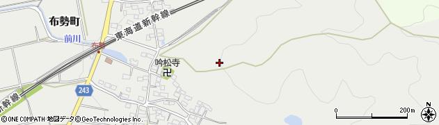 滋賀県長浜市布勢町周辺の地図