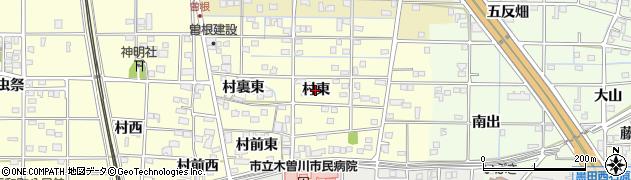 愛知県一宮市北方町曽根(村東)周辺の地図