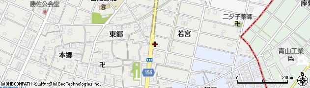 愛知県江南市勝佐町周辺の地図