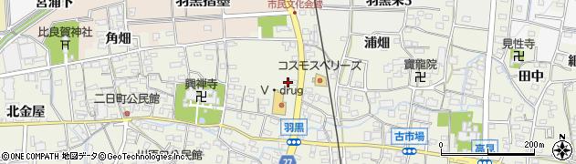愛知県犬山市羽黒(摺墨)周辺の地図