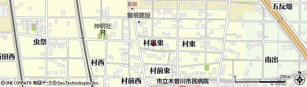 愛知県一宮市北方町曽根(村裏東)周辺の地図