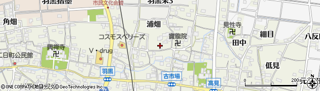 愛知県犬山市羽黒(鳳町)周辺の地図