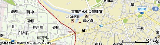 愛知県江南市宮田町(藤ノ森)周辺の地図