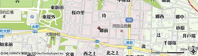 愛知県一宮市浅井町河田周辺の地図