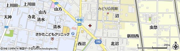 愛知県一宮市木曽川町黒田(沼北ノ切)周辺の地図
