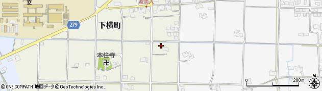 島根県出雲市下横町周辺の地図