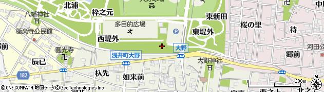 愛知県一宮市浅井町大野(中堤外)周辺の地図