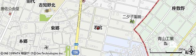愛知県江南市勝佐町(若宮)周辺の地図