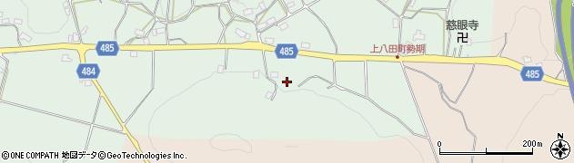 京都府綾部市上八田町(迫ノ上)周辺の地図