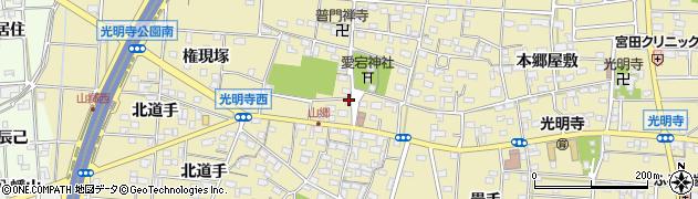 愛知県一宮市光明寺(山屋敷)周辺の地図