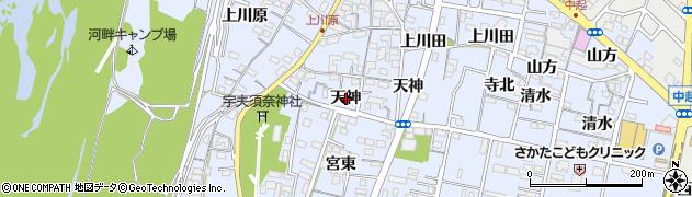 愛知県一宮市木曽川町里小牧(天神)周辺の地図
