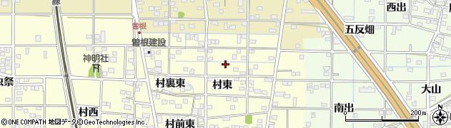 愛知県一宮市北方町曽根周辺の地図