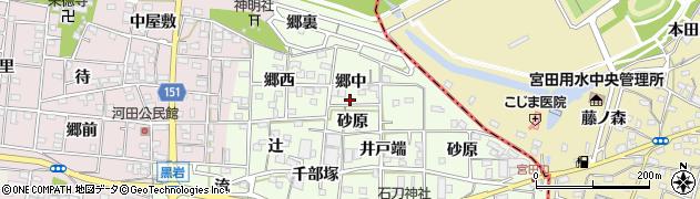 愛知県一宮市浅井町黒岩周辺の地図