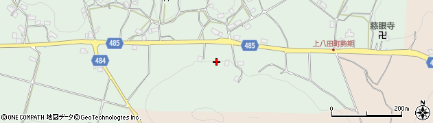 京都府綾部市上八田町(ヒシロ)周辺の地図