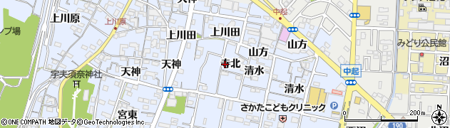 愛知県一宮市木曽川町里小牧(寺北)周辺の地図
