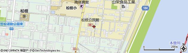 岐阜県羽島郡笠松町長池周辺の地図