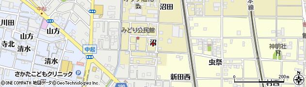 愛知県一宮市北方町北方(沼)周辺の地図