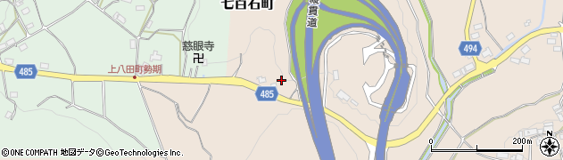 京都府綾部市七百石町(中山)周辺の地図