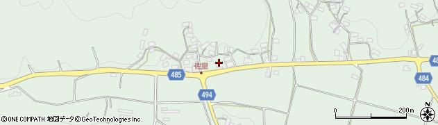 京都府綾部市上八田町(大野)周辺の地図