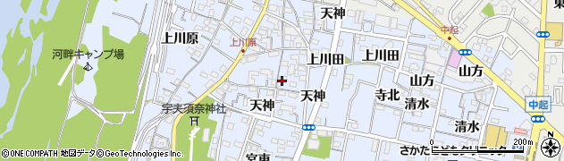 愛知県一宮市木曽川町里小牧(天神東)周辺の地図
