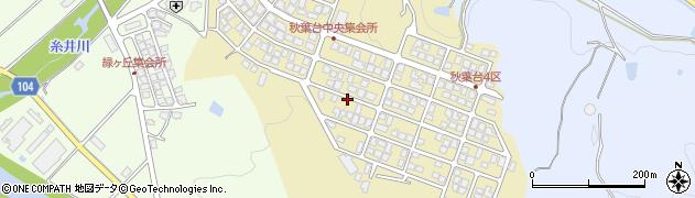 兵庫県朝来市和田山町秋葉台周辺の地図