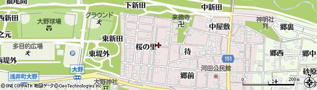 愛知県一宮市浅井町河田(郷西)周辺の地図