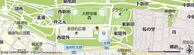 愛知県一宮市浅井町大野(小屋裏)周辺の地図