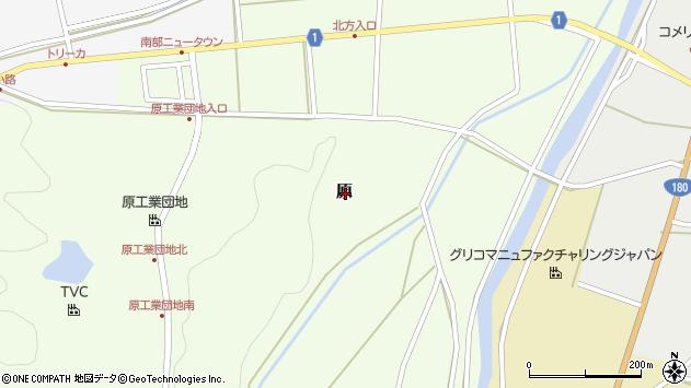 〒683-0362 鳥取県西伯郡南部町原の地図