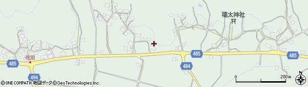 京都府綾部市上八田町(坪ノ内)周辺の地図