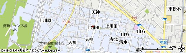 愛知県一宮市木曽川町里小牧(上川田)周辺の地図