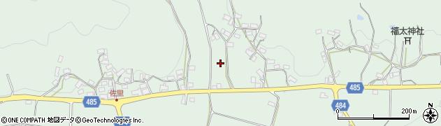 京都府綾部市上八田町(西浦)周辺の地図