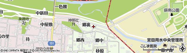 愛知県一宮市浅井町黒岩(郷裏)周辺の地図