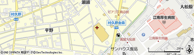 愛知県江南市村久野町(瀬頭)周辺の地図