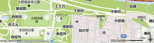愛知県一宮市浅井町河田(桜の里)周辺の地図