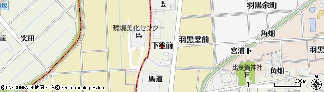 愛知県犬山市羽黒(下堂前)周辺の地図