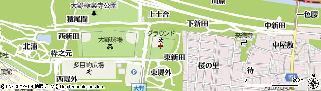 愛知県一宮市浅井町大野(古屋敷北)周辺の地図